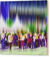People Walking In The City-2 Wood Print