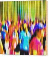 People Walking In The City-4 Wood Print