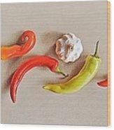 Pepper Dance Wood Print