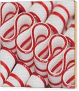 Peppermint Ribbon Candy Wood Print