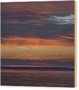 Perdido Pass Red Sunrise Wood Print