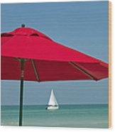 Perfect Beach Day Wood Print by Elvira Butler