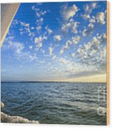Perfect Evening Sailing On The Charleston Harbor Wood Print by Dustin K Ryan