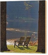 Perfect Morning Place Wood Print