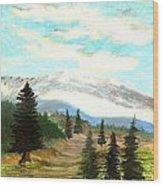 Perfect Pines Peak Wood Print
