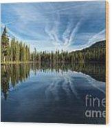 Perfect Reflection Wood Print