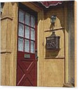 Perfectly Paletted Doorway Wood Print