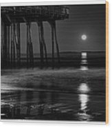 Perigee Moon Wood Print