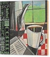 Perk Coffee Languages Poster Wood Print