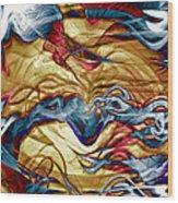 Permanent Waves Wood Print by Linda Sannuti