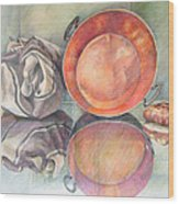 Perol Con Bulto Y Pan Wood Print
