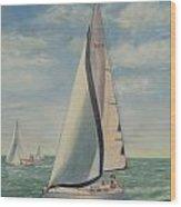 'perpetual Motion Racing In The Atlantic Wood Print