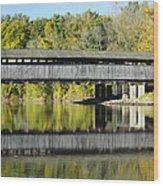 Perrine's Covered Bridge Wood Print