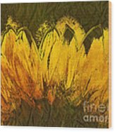 Petales De Soleil - A43t02b Wood Print by Variance Collections