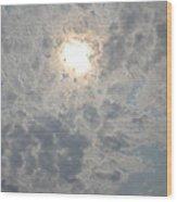 Peter Pan Clouds Wood Print