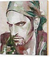 Peter Steele Portrait.6 Wood Print