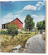 Peter Stuckey Farm Wood Print