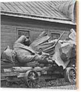 Peter The Great, Resting On A Wagon Wood Print by Maynard Owen Williams