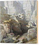 Petra March 10th 1839 Wood Print