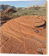 Petrified Sand Dunes - Snow Canyon Utah  Wood Print