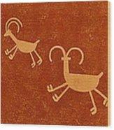 Petroglyph Artwork Wood Print