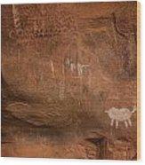 Petrogylph II Wood Print