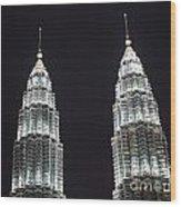 Petronas Tower Top Detail Wood Print