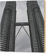 Petros Towers Surreal Wood Print