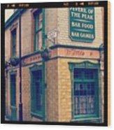 Peveril Of The Peak Pub Wood Print