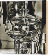 Pewter And Glass Wood Print