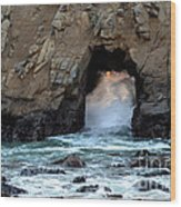 Pfeiffer Rock Big Sur 2 Wood Print