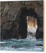 Pfeiffer Rock Big Sur Wood Print