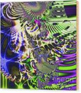 Phantasm . Square Wood Print by Wingsdomain Art and Photography