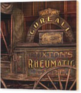 Pharmacy - The Rheumatic Cure Wagon  Wood Print