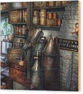 Pharmacy - Tools - August Flowers Wood Print