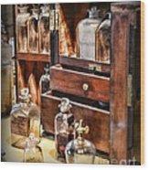 Pharmacy - Medicine Cabinet Wood Print