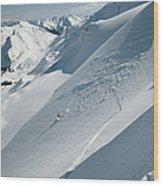 Phil Atkinson Skiing The Dogtooth Range Wood Print