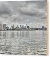 Philadelphia Across The Water Wood Print