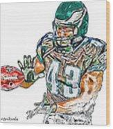 Philadelphia Eagles Leonard Weaver Wood Print