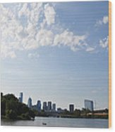 Philadelphia From Kelly Drive Wood Print