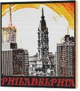 Philadelphia Poster Wood Print