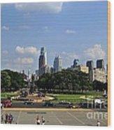 Philadelphia Skyline 5 Art Museum Wood Print
