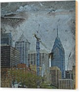 Philadelphia Skyline Wood Print by Mother Nature