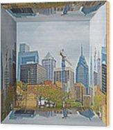 Philadelphia Skyline - Mirror Box Wood Print