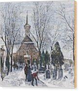 Philadelphia: Winter, 1873 Wood Print