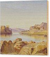 Philae - Egypt Wood Print by Edward Lear
