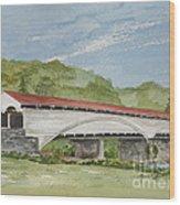 Philippi Covered Bridge  Wood Print