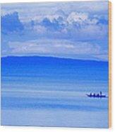 Philippine Sea Sunrise Wood Print