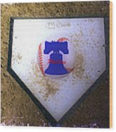 Phillies Home Plate Wood Print