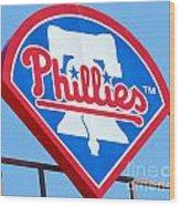 Phillies Logo Wood Print